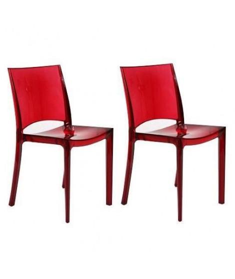 UP ON lot de 2 chaises de jardin B-Side - En polycarbonate - Rouge rubis