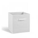 COMPO Tiroir de rangement - Tissu - 27x27x28 cm - Blanc